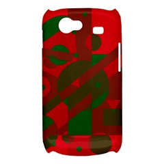Red and green abstract design Samsung Galaxy Nexus S i9020 Hardshell Case