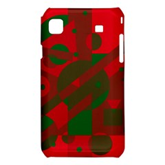 Red and green abstract design Samsung Galaxy S i9008 Hardshell Case