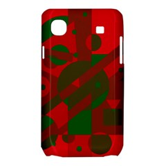 Red and green abstract design Samsung Galaxy SL i9003 Hardshell Case