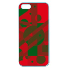 Red and green abstract design Apple Seamless iPhone 5 Case (Color)