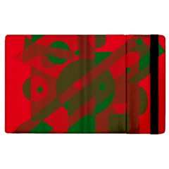 Red and green abstract design Apple iPad 2 Flip Case