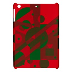 Red and green abstract design Apple iPad Mini Hardshell Case