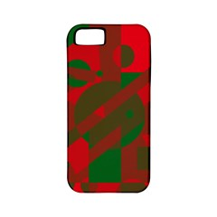 Red and green abstract design Apple iPhone 5 Classic Hardshell Case (PC+Silicone)