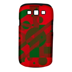 Red and green abstract design Samsung Galaxy S III Classic Hardshell Case (PC+Silicone)