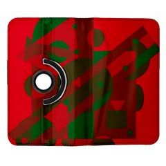 Red and green abstract design Samsung Galaxy Note II Flip 360 Case