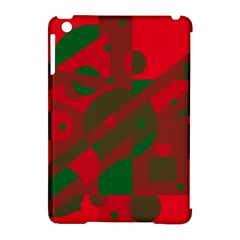 Red and green abstract design Apple iPad Mini Hardshell Case (Compatible with Smart Cover)
