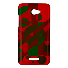 Red and green abstract design HTC Butterfly X920E Hardshell Case