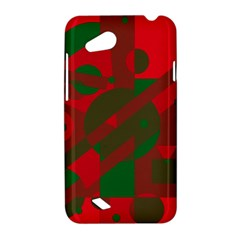 Red and green abstract design HTC Desire VC (T328D) Hardshell Case