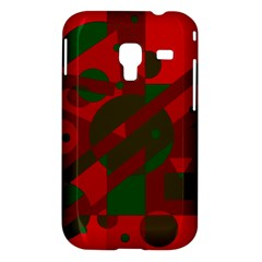 Red and green abstract design Samsung Galaxy Ace Plus S7500 Hardshell Case