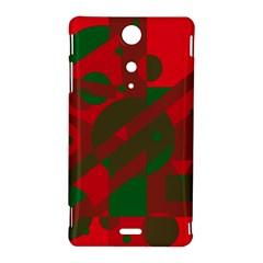 Red and green abstract design Sony Xperia TX
