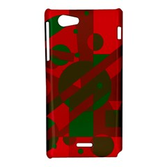 Red and green abstract design Sony Xperia J