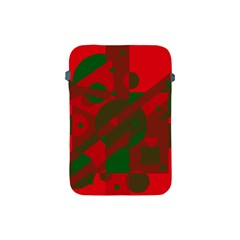 Red and green abstract design Apple iPad Mini Protective Soft Cases