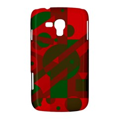 Red and green abstract design Samsung Galaxy Duos I8262 Hardshell Case