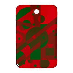 Red and green abstract design Samsung Galaxy Note 8.0 N5100 Hardshell Case