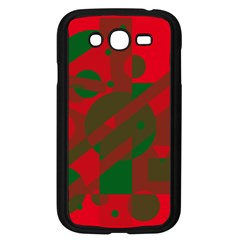 Red and green abstract design Samsung Galaxy Grand DUOS I9082 Case (Black)