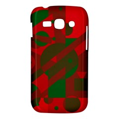 Red and green abstract design Samsung Galaxy Ace 3 S7272 Hardshell Case