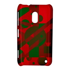 Red and green abstract design Nokia Lumia 620