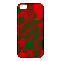 Red and green abstract design Apple iPhone 5C Hardshell Case