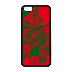 Red and green abstract design Apple iPhone 5C Seamless Case (Black)
