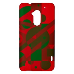 Red and green abstract design HTC One Max (T6) Hardshell Case