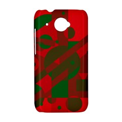 Red and green abstract design HTC Desire 601 Hardshell Case