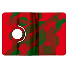 Red and green abstract design Kindle Fire HDX Flip 360 Case