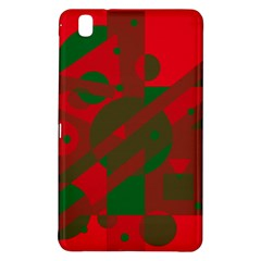 Red and green abstract design Samsung Galaxy Tab Pro 8.4 Hardshell Case