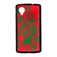 Red and green abstract design Nexus 5 Case (Black)