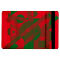 Red and green abstract design iPad Air 2 Flip
