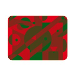 Red and green abstract design Double Sided Flano Blanket (Mini)