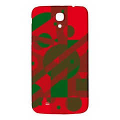 Red and green abstract design Samsung Galaxy Mega I9200 Hardshell Back Case
