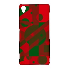 Red and green abstract design Sony Xperia Z3