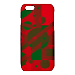 Red and green abstract design iPhone 6/6S TPU Case