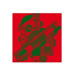 Red and green abstract design Satin Bandana Scarf