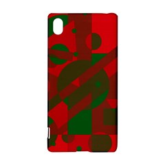 Red and green abstract design Sony Xperia Z3+
