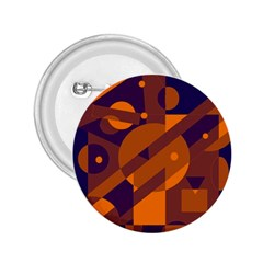 Blue and orange abstract design 2.25  Buttons