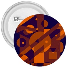 Blue and orange abstract design 3  Buttons