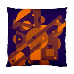 Blue and orange abstract design Standard Cushion Case (One Side)