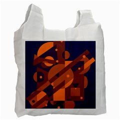 Blue and orange abstract design Recycle Bag (Two Side)