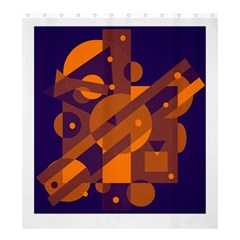 Blue And Orange Abstract Design Shower Curtain 66  X 72  (large)
