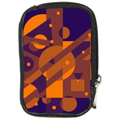 Blue and orange abstract design Compact Camera Cases