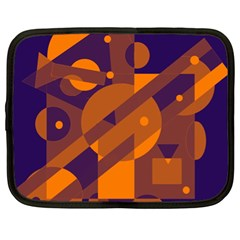 Blue and orange abstract design Netbook Case (XL)
