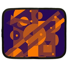 Blue and orange abstract design Netbook Case (XXL)