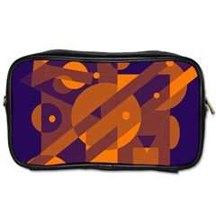 Blue and orange abstract design Toiletries Bags