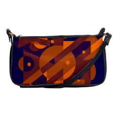 Blue and orange abstract design Shoulder Clutch Bags
