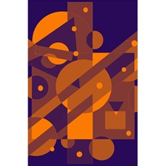 Blue and orange abstract design 5.5  x 8.5  Notebooks