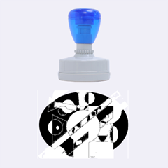 Blue and orange abstract design Rubber Oval Stamps