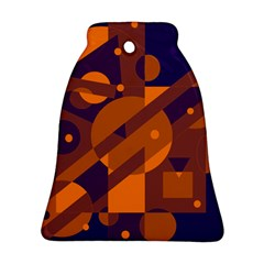 Blue and orange abstract design Bell Ornament (2 Sides)