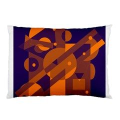 Blue and orange abstract design Pillow Case (Two Sides)