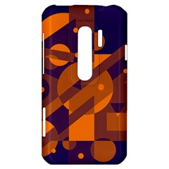Blue and orange abstract design HTC Evo 3D Hardshell Case
